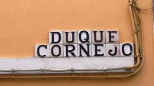 Street sign: Duque de Cornejo